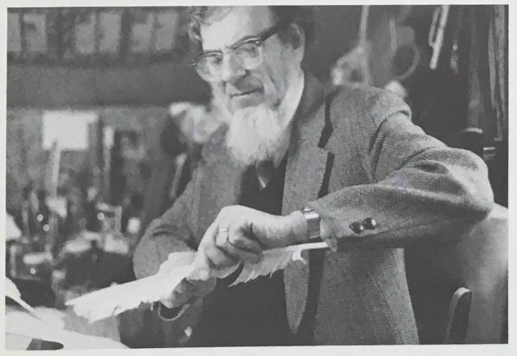 Eric Ray creating a quill pen